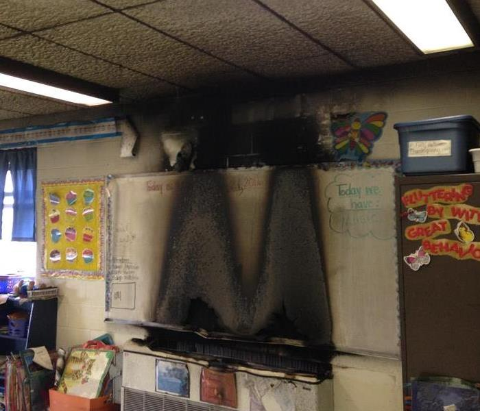 Fire in Bowling Green School